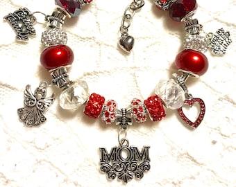 Mom's Homemade European Style Charm Bracelet