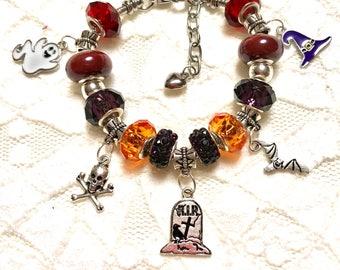Halloween, European Style Charm Bracelet