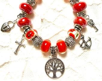 Tree of Life- European Style Charm Bracelet