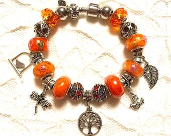 Nature, European Style Charm Bracelet