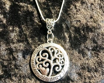 Family Tree Necklace- 925 Sterling Silver Chain