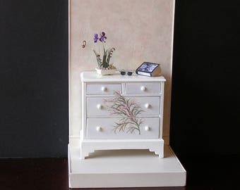 Small dollhouse miniature chest