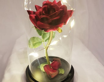 Beauty And The Beast Rose Etsy