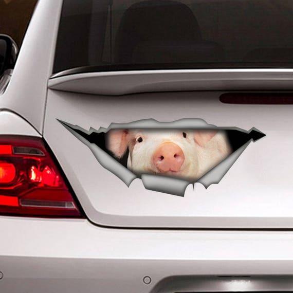 Schwein Aufkleber Auto Aufkleber Vinyl Aufkleber Etsy