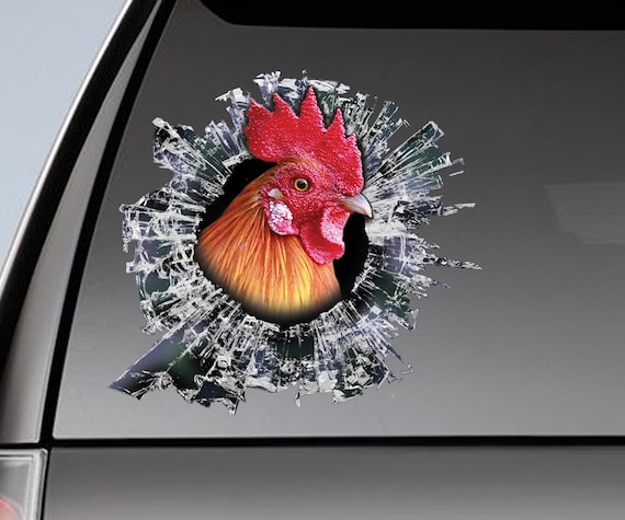 Yjzt 13 2cm 14 5cm Funny Animal Gamefowl Rooster Vinyl Car Sticker Decor Decal Black Silver Accessories C11 0995 Car Stickers Aliexpress