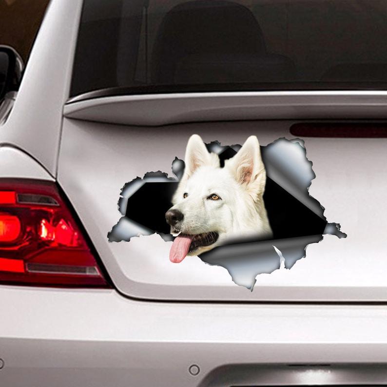 Car Window Sticker German Shepherd Alsatian Dog on Board Sign GSD Decal V10
