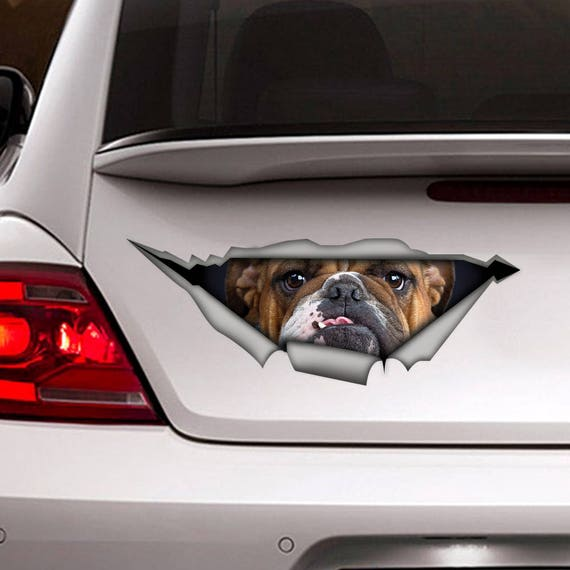 Bulldogge Aufkleber Auto Aufkleber Vinyl Aufkleber Pet Aufkleber Hunde Aufkleber Bulldog Aufkleber