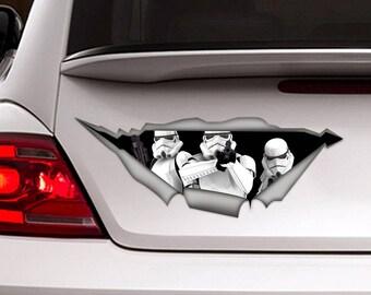 Stormtroopers sticker, star wars car sticker, car sticker, car decal