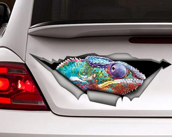 Chameleon car  decal, reptile  decal, chameleon  sticker