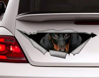 Dachshund  decal,  dog car decal, Vinyl decal, car decoration, Dachshund  sticker, pet decal