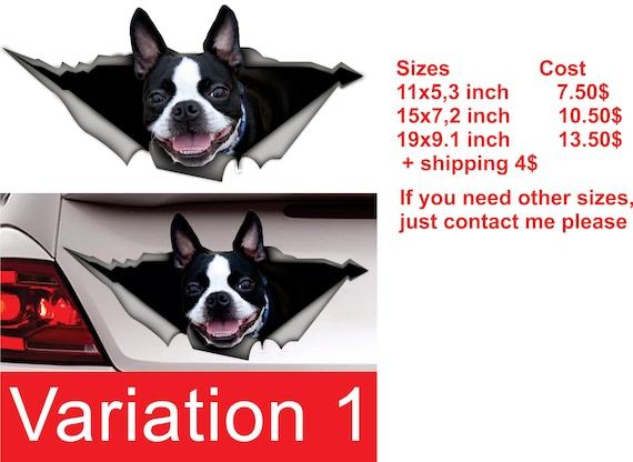 boston terrier aufkleber hund auto aufkleber etsy. Black Bedroom Furniture Sets. Home Design Ideas