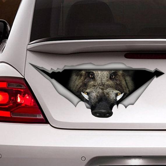 Wildschwein Auto Aufkleber Lustige Auto Aufkleber Tier Etsy