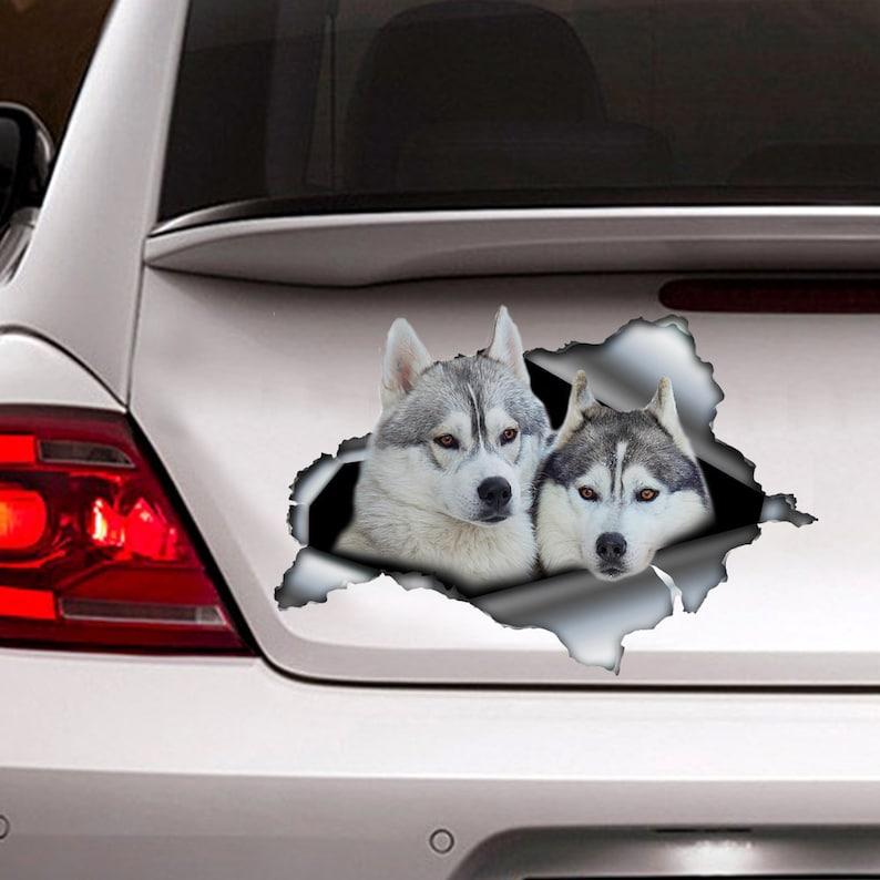 Siberian Husky Sticker Car Decoration Car Sticker Vinyl Decal Siberian Husky Decal