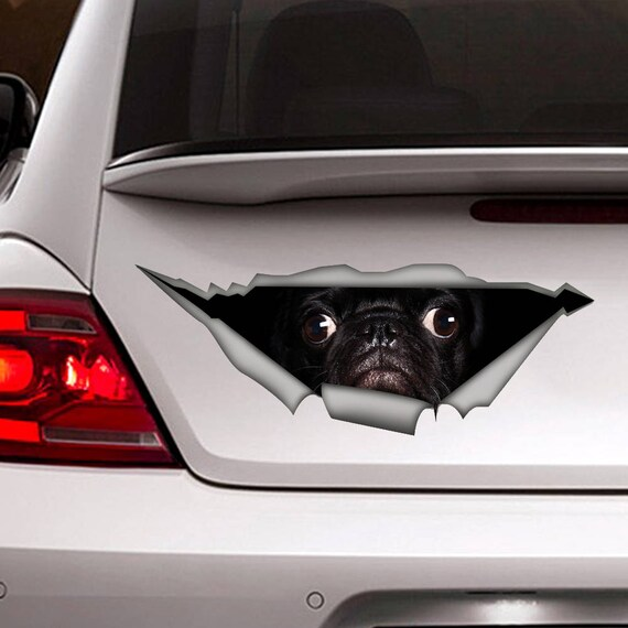 Pug sticker pug car decal vinyl decal car decoration pet