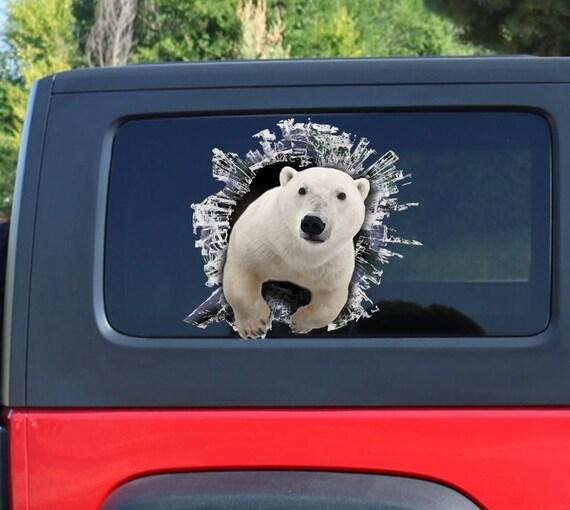 Eisbär Fenster Aufkleber Brocken Fenster Auto Aufkleber Etsy