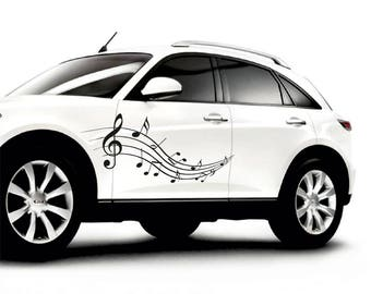 Car decal, Notes decal, music decal for car, music sticker, car decal for man, car decal for woman, music car sticker