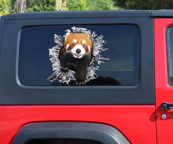 Roter Panda Fenster Aufkleber Brocken Fenster Auto Aufkleber Etsy