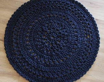 Crochet tapis de sol 80cms-sur-mesure différentes couleurs disponibles-chemise fil-