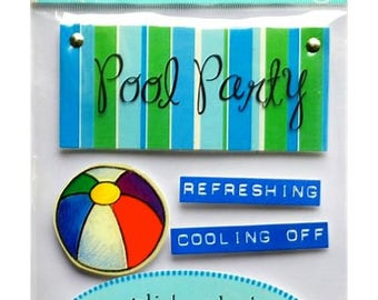 Stickers 3D pool 19.5 x 11.5 cm creative cardmaking scrapbooking
