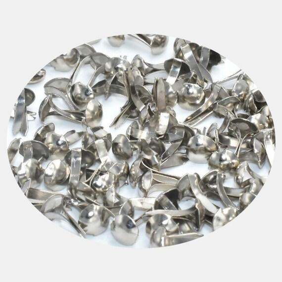50 brads ronds perles cristal multicolores 8 mm attaches parisiennes scrap