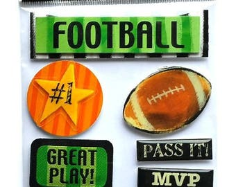 Stickers 3D Football 19.5 x 11.5 cm creative cardmaking scrapbooking
