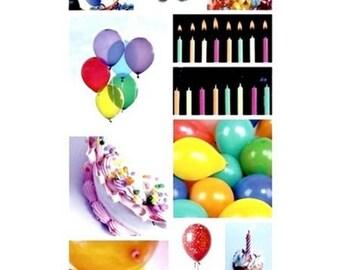 Large Santa Claus stickers birthday Pebbles Inc 31 x 15 cm cardmaking scrapbooking creative home decor