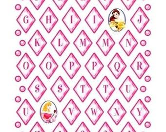 Stickers Alphabet Princesses Disney Sandylion 30 x20cm cardmaking scrapbooking creative home decor