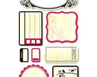 Large Santa Claus stickers Sandylion Journaling cards 31 x 10cms cardmaking scrapbooking creative home decor