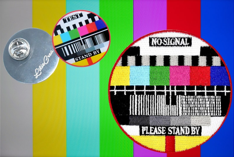 Patch tv signal and pin no signal please wait sight tv | Etsy