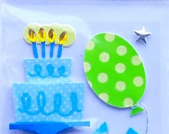 3D birthday Sandylion creative cardmaking scrapbooking stickers