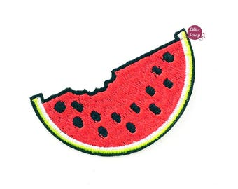 Embroidered back fusible fruit watermelon watermelon patch 7 cm