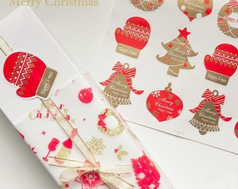 24 / 48 tags Christmas Merry Christmas stickers labels