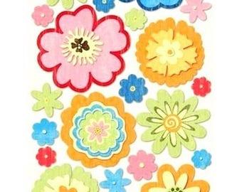 Large Santa Claus stickers Sandylion flowers 32 x 14 cm scrapbooking cardmaking creative home decor