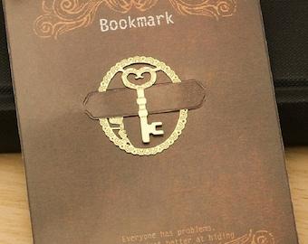 Gold key key bookmark metal bookmark