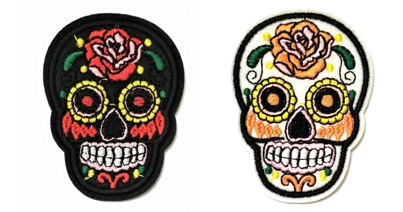 Sugar skull fil noire bandeau mini calaveras le jour des morts