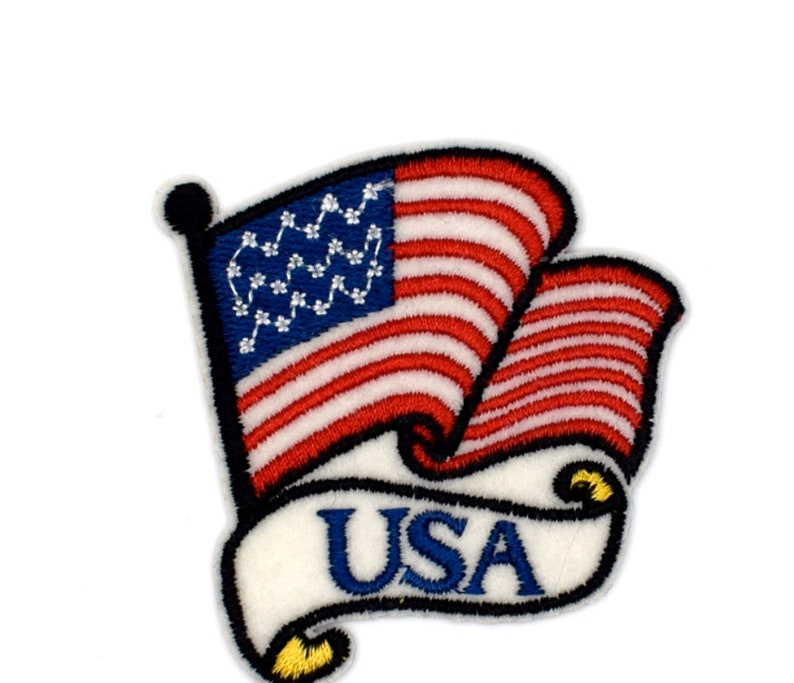 Coat of arms flag, USA, USA, 7 cm, sewing, customization, clothing patch  Thermo