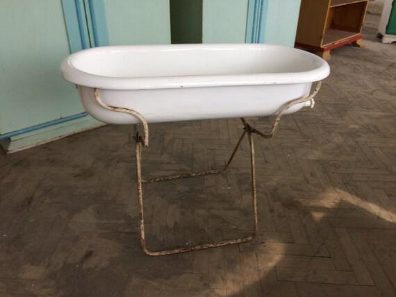 Sink Antique PORCELAIN Enamel baby bath Farmhouse Sink | Etsy