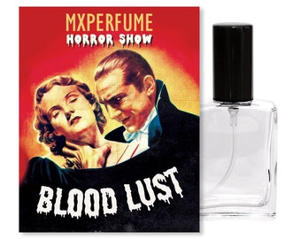 BLOOD LUST Perfume, 15ml Spray Bottle, Roller Perfume Oil, Vampire Perfume, Dracula, Wormwood, Citrus, Oudwood, Gothic, Goth Scent