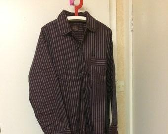 Burgundy Dunstanburgh Fabric Long Nightshirt SALE