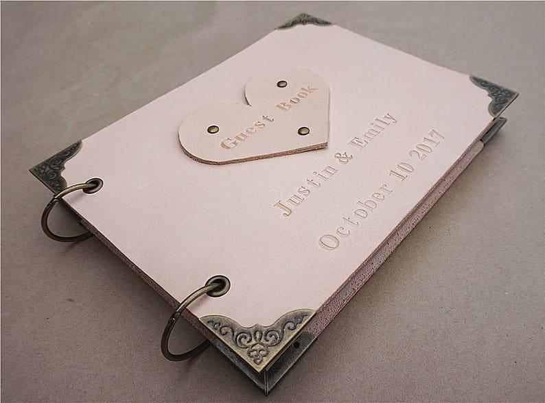 Wedding GuestBook Wedding Guest Book Wedding Journal Custom Guest Book