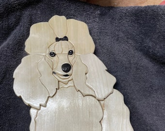 Poodle dog done in Intarsia