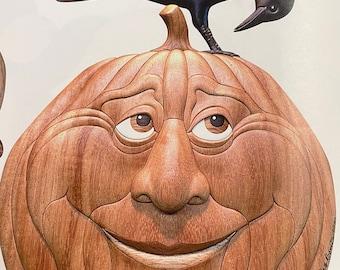 Curious Crow on Pumpkin
