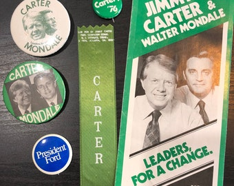 Original Jimmy Carter /& Walter Mondale Campaign Flyer Brochure Rare Democratic