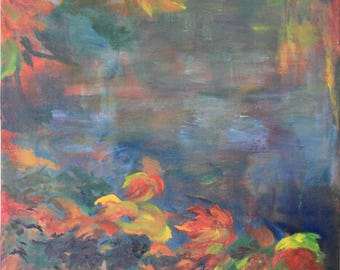 Nature / Landscape / Original / oil painting / Colors of Fall / free shipping