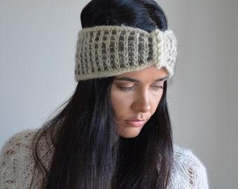 Fascia di lana per capelli da donna fatta a mano. aa2c2861298a