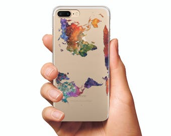 World map phone case etsy map case clear silicone case iphone 6s silicone case iphone 7 silicone case iphone 6s plus silicone case map cases world map case iphone gumiabroncs Images