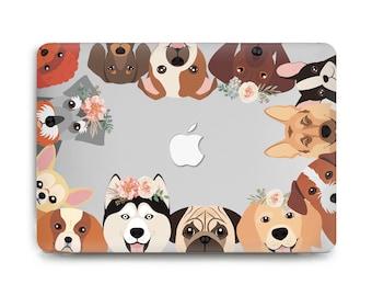 Engree MacBook Pro 15.4 Retina Case NO CD-ROM Drive A1398 MacBook Pro 15 inch Case Cute Smiling Welsh Corgi Dog Pattern Hard Shell Case for MacBook Pro Model A1398