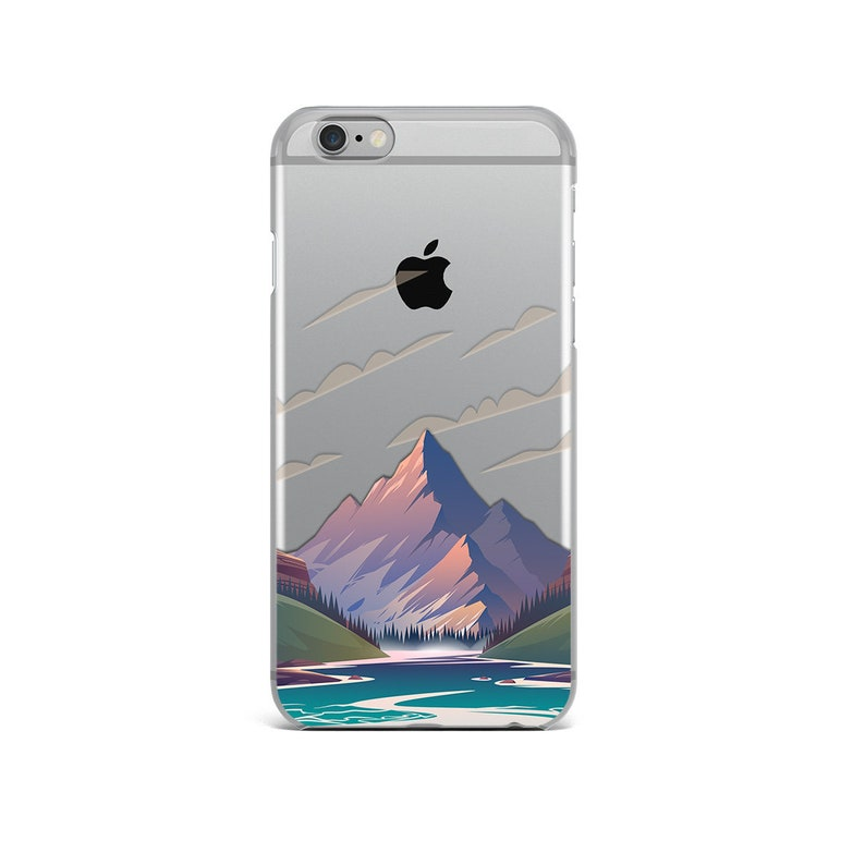 coque iphone 8 silicone montagne