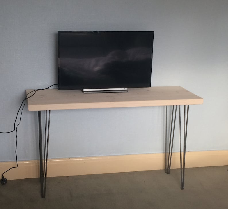 Marvelous Desk Wood Desk Wooden Table Solid Wood Table Urban Recycled Custom Made Tv Stand Handmade In Uk Hairpin Legs Metal Legs Reclaimed Recycled Download Free Architecture Designs Scobabritishbridgeorg