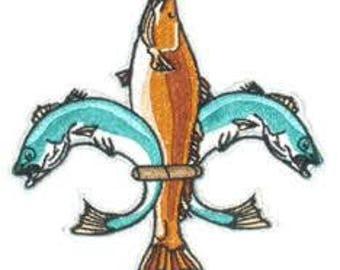 Fish Fleur de Lis